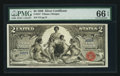 Large Size:Silver Certificates, Fr. 247 $2 1896 Silver Certificate PMG Gem Uncirculated 66 EPQ.....