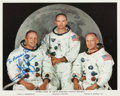 Autographs:Celebrities, Neil Armstrong Signed Apollo 11 White Spacesuit Crew Photo. ...