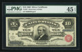 Large Size:Silver Certificates, Fr. 291 $10 1886 Silver Certificate PMG Choice Extremely Fine 45EPQ.. ...