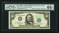 Fr. 2112-B* $50 1950E Federal Reserve Note. PMG Choice Uncirculated 64 EPQ
