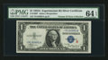 Small Size:Silver Certificates, Fr. 1609* $1 1935A R Silver Certificate. PMG Choice Uncirculated 64 EPQ.. ...