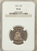 Proof Seated Quarters: , 1876 25C PR62 NGC. NGC Census: (26/133). PCGS Population (32/124).Mintage: 1,150. Numismedia Wsl. Price for problem free N...