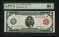 Fr. 833b $5 1914 Red Seal Federal Reserve Note PMG Gem Uncirculated 66 EPQ
