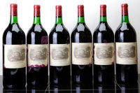Chateau Lafite Rothschild 1982 Pauillac 6-tissue stained labels, owc Magnum (6)