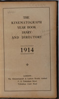 Books:Photography, [Photography]. The Kinematograph Year Book Diary and Directory, 1914. Kinematograph & Lantern Weekly Limited, ca. 19...