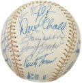 Autographs:Baseballs, 1977 California Angels Team Signed Baseball. Twenty-four signaturesfrom the 1977 California Angels have checked in on the ...