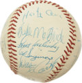 Autographs:Baseballs, 1975 St. Louis Cardinals Team Signed Baseball. Twenty-twosignatures from the 1975 St. Louis Cardinals are here includingL...