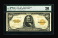 Large Size:Gold Certificates, Fr. 1200a $50 1922 Gold Certificate PMG Very Fine 30....