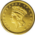 Proof Gold Dollars: , 1872 G$1 PR65 Deep Cameo PCGS. The 1872 proof gold dollar is a major rarity, but it has not always been recognized as such....