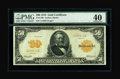 Large Size:Gold Certificates, Fr. 1199 $50 1913 Gold Certificate PMG Extremely Fine 40....