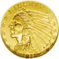 Indian Quarter Eagles: , 1911-D $2 1/2 MS61 NGC. A desirable Mint State example of this key-date issue, the solitary rarity in the Indian quarter ea...