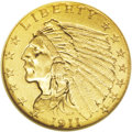Indian Quarter Eagles: , 1911-D $2 1/2 MS62 NGC. For the collector of the Indian Head quarter eagle series, the 1911-D represents the single greates...