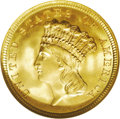 Three Dollar Gold Pieces: , 1854 $3 MS67 NGC. February 21, 1853 was an important date in thehistory of American numismatics. This was the date that Co...