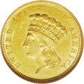 Three Dollar Gold Pieces: , 1854-O $3 MS62 NGC. Breen-6349. This issue, the only New OrleansMint three dollar, is readily available in lower grades, s...