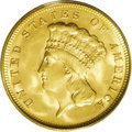 Three Dollar Gold Pieces: , 1878 $3 MS64 PCGS. According to David Bowers and Doug Winters inThe United States Three Dollar Gold Pieces, the 1878 t...