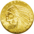 Indian Half Eagles: , 1915 $5 MS65 NGC. Gem Indian half eagles of any stripe are ararity, even though most dates in this series are only conditi...