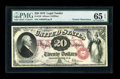 Large Size:Legal Tender Notes, Fr. 129 $20 1878 Legal Tender PMG Gem Uncirculated 65 EPQ....