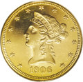 Proof Liberty Eagles: , 1906 $10 PR63 Cameo PCGS. Mint records show a total of 77 proofswere produced of this issue. The Breen proof Encyclopedi...