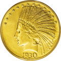 Indian Eagles: , 1930-S $10 MS62 PCGS. Phenomenal eye appeal is this coin's strongsuit. The rich surfaces are a delectable straw-gold, with...