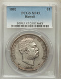 Coins of Hawaii: , 1883 $1 Hawaii Dollar XF45 PCGS. PCGS Population (151/254). NGCCensus: (60/194). Mintage: 500,000. ...