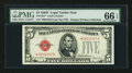 Fr. 1531* $5 1928F Legal Tender Note. PMG Gem Uncirculated 66 EPQ