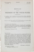 Miscellaneous:Ephemera, [Abraham Lincoln]. Message from the President of the UnitedStates....