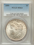 Morgan Dollars: , 1890 $1 MS64 PCGS. PCGS Population (3515/425). NGC Census:(4058/303). Mintage: 16,802,590. Numismedia Wsl. Price for probl...