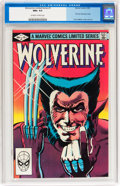 Modern Age (1980-Present):Superhero, Wolverine (Limited Series) #1 (Marvel, 1982) CGC NM+ 9.6 Off-whiteto white pages....