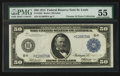 Large Size:Federal Reserve Notes, Fr. 1052 $50 1914 Federal Reserve Note PMG About Uncirculated 55.. ...