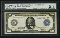 Fr. 1052 $50 1914 Federal Reserve Note PMG About Uncirculated 55
