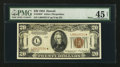 Small Size:World War II Emergency Notes, Fr. 2304* $20 1934 Mule Hawaii Federal Reserve Note. PMG ChoiceExtremely Fine 45 Net.. ...