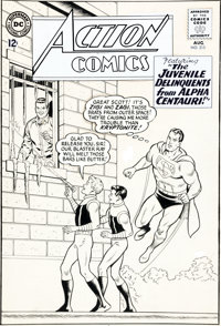 Curt Swan and George Klein Action Comics #315 Cover Original Art (DC, 1964).... (Total: 3 Items)