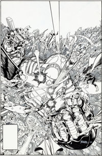 George Perez Crisis on Infinite Earths #12 Cover Original Art (DC, 1986)