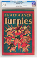 Platinum Age (1897-1937):Miscellaneous, Crackajack Funnies (giveaway) #nn (Malto-Meal, 1937) CGC FN/VF 7.0Off-white pages....