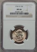 Washington Quarters, 1936-D 25C MS66 NGC....