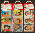 Baseball Cards:Lots, Topps Baseball Christmas Re-Wraps Trio (3) With 1953,1954 &1960 Cards. ...