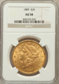 Liberty Double Eagles: , 1889 $20 AU58 NGC. NGC Census: (69/435). PCGS Population (62/337).Mintage: 44,000. Numismedia Wsl. Price for problem free ...