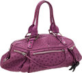 Luxury Accessories:Bags, VBH Limited Edition Large Fuchsia Pink Ostrich & CrocodileLucky Bag. ...