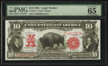 Large Size:Legal Tender Notes, Fr. 120 $10 1901 Legal Tender PMG Gem Uncirculated 65 EPQ.. ...