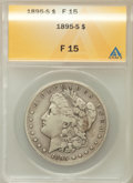 Morgan Dollars: , 1895-S $1 Fine 15 ANACS. NGC Census: (92/1439). PCGS Population(171/2486). Mintage: 400,000. Numismedia Wsl. Price for pro...