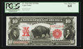 Large Size:Legal Tender Notes, Fr. 121 $10 1901 Mule Legal Tender PCGS Very Choice New 64.. ...