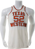 Basketball Collectibles:Uniforms, 1966 Jerry Armstrong Game Worn Texas Western Jersey From Glory RoadTeam. ...
