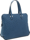 Luxury Accessories:Bags, Hermes Bleu Roi Ostrich Escapade Bag with Palladium Hardware. ...