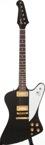 Musical Instruments:Electric Guitars, 1976 Gibson Firebird Black Solid Body Electric Guitar, Serial #00248107. ...