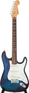 Musical Instruments:Electric Guitars, 1995 Fender Stratocaster Blue Tie-Dye Aluminum Body Electric Guitar, Serial # N504790....
