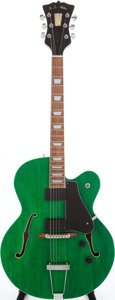 Musical Instruments:Electric Guitars, 1996 R.C. Allen Leader Green Semi-Hollow Body Electric Guitar,Serial # 1016-96-T....