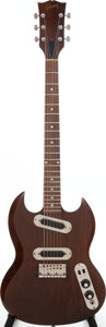 Musical Instruments:Electric Guitars, 1971 Gibson SG 200 Walnut Solid Body Electric Guitar, Serial #968293. ...