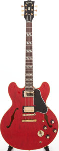 Musical Instruments:Electric Guitars, 1962 Gibson ES-345 Cherry Semi-Hollow Body Electric Guitar, Serial# 85191. ...