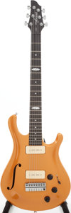 Musical Instruments:Electric Guitars, 2009 Flaxwood Liekki Gold Top Semi-Hollow Body Electric Guitar,Serial # 0310886....