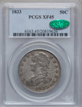Bust Half Dollars: , 1833 50C XF45 PCGS. CAC. PCGS Population (192/1020). NGC Census:(139/1026). Mintage: 5,206,000. Numismedia Wsl. Price for ...